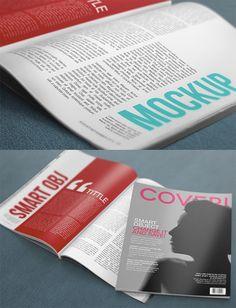 Mockups de Revistas Gratuitos para Apresentação