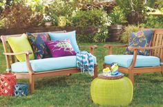 Outdoor Furniture & Decor at Cost Plus World Market >> Outdoor Ente Living Furniture, Furniture Decor, Outdoor Furniture Sets, Furniture Design, Backyard Furniture, Outdoor Sofa, Outdoor Spaces, Outdoor Living, Outdoor Decor