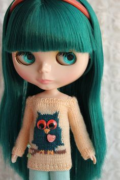 PREORDER  BLYTHE  Owl on a Branch Sweater Tunic  by DoLLYSToRY
