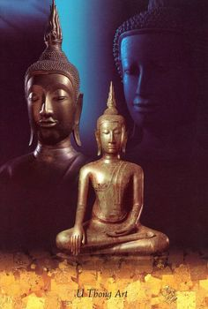 U Thong Art : originated in the Central region of Thailand between the 12th - 15th centuries AD