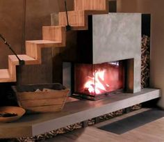 Cheminees Chazelles corner fireplaces
