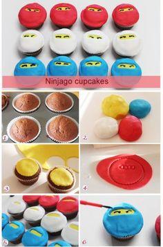 Selbst ausprobiert - aufwändiger als gedacht!!! Lego Ninjago cupcakes - cooler than Zane himself!