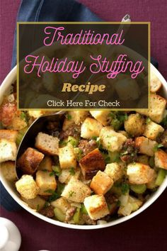 Sausage and sage add a gourmet taste to this stuffing. It's perfect for large family gatherings, but you can also save some for later. #sausage #sausagerecipe #healthyrecipe #recipe Stuffing Recipes, Sausage Recipes, Real Food Recipes, Healthy Recipes, Family Gatherings, Holiday Traditions, Eat Healthy, A Food, Paleo