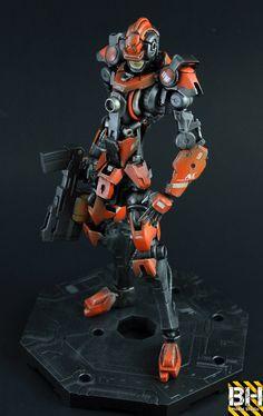 GUNDAM GUY: Advance Warfare Army Droid Soldier [1/100 Gundam Barbatos] - Custom Build