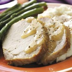 Country Style Pork Loin Roast in a slow cooker. Made this today for the family. They asked for seconds.