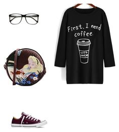 """""""Untitled #29"""" by nicoleaquilina on Polyvore featuring Converse, women's clothing, women, female, woman, misses and juniors"""