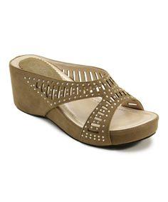 Love this Camel X-Strap Platform Sandal by Italina on #zulily! #zulilyfinds