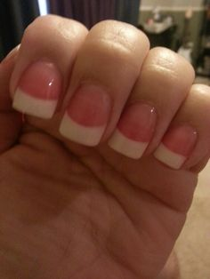 The pink and white nails.. Love them with the more pinker tone than usual.
