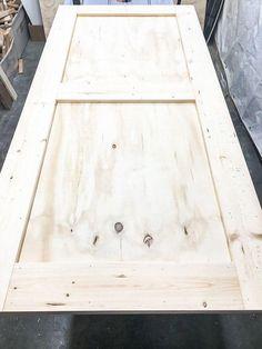 Woodworking Supplies How to build a barn door with plywood and boards .Woodworking Supplies How to build a barn door with plywood and boards Woodworking Supplies, Easy Woodworking Projects, Wood Projects, Woodworking Plans, Woodworking Beginner, Woodworking Logo, Woodworking Classes, Woodworking Furniture, Diy Sliding Barn Door