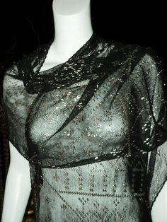 1920er Jahre ägyptische Asuit Schal schwarz von Bellasoiree auf Etsy