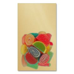 Sugar candies business card templates