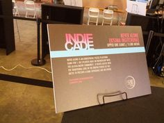 Entrance to IndieCade 2014. #neveralonegame #indiecade #losangeles #gaming