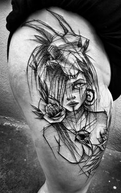 Leading Tattoo Magazine & Database, Featuring best tattoo Designs & Ideas from around the world. At TattooViral we connects the worlds best tattoo artists and fans to find the Best Tattoo Designs, Quotes, Inspirations and Ideas for women, men and couples. Sketch Style Tattoos, Sketch Tattoo Design, Tattoo Sketches, Tattoo Designs, Bone Tattoos, Leg Tattoos, Body Art Tattoos, Tatoos, Black Tattoo Art