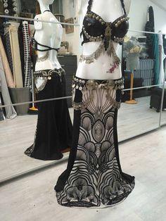 Sequin vintaje tribal fusion skirt