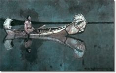 Frank Earle Schoonover -- Wa-Gush - Original Size 30x48 Painting