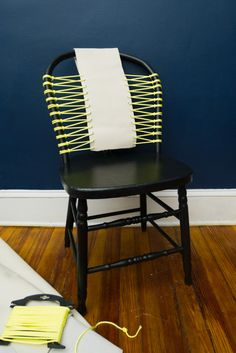Make it Modern: DIY Rope & Leather Chair Transformation