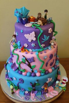 Lego elf cake - Leela 10 ans!!