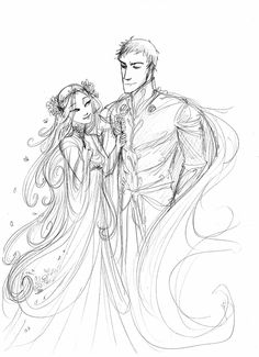 I like the way some people draw Hades and Persephone as if they were in love. It's so much cuter!