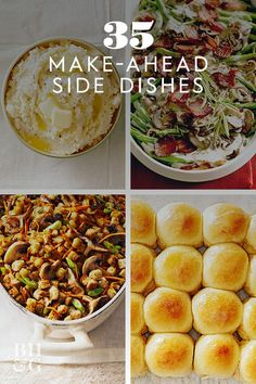 Whether you're prepping for Christmas, New Year's, or just a gathering of family and friends, these easy make-ahead side dish recipes will help you get an early start on your hosting duties. #thanksgiving #sides #thanksgivingsides #makeaheadrecipes #thanksgivingdinner #bhg Thanksgiving Sides, Thanksgiving Recipes, Christmas Side Dishes, Make Ahead Meals, Christmas Cooking, Walking Sticks, What To Cook, Side Dish Recipes, Food Dishes