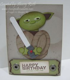Sherry's Stamped Treasures: Star Wars Punch Art - Yoda