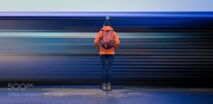 Waiting for a train by DavidCook3