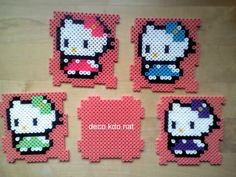 DECO.KDO.NAT: Perles hama: pot à crayons hello kitty