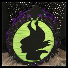 Party decorations at a Maleficent girl birthday party!  See more party planning ideas at CatchMyParty.com!