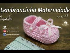 Lembrancinha de Maternidade Sapatilha de Crochê - Professora Simone
