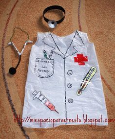 Disfraz de médico o enfermro