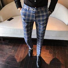 Buy Men Dress Pant Plaid Business Casual Slim Fit Pantalon A Carreau Homme Classic Vintage Check Suit Trousers Wedding Pants . Men Trousers, Mens Dress Pants, Slim Fit Trousers, Men Dress, Men Pants, Suit Pants, Mens Plaid Pants, Dress Trousers, Plaid Dress