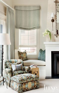 White Mountain Sitting Area with Window Seat | LuxeSource | Luxe Magazine - The Luxury Home Redefined