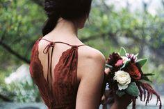 Marsala bridesmaids dress ⎪Jonathan Kohn⎪see more on: http://burnettsboards.com/2015/09/demure-southern-wedding-home/