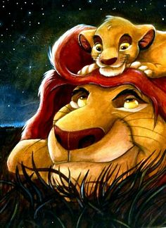"Disney 30 Day Challenge: Day Favorite name: Well, I have two: Simba and Mufasa. Simba means ""lion"" and Mufasa means ""king,"" both in Swahili. Nice one, Disney. Disney Magic, Disney Pixar, Walt Disney, Heros Disney, Disney And Dreamworks, Disney Films, Disney Love, Disney Art, Disney Characters"