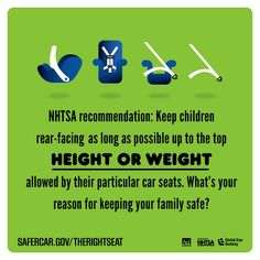 Child Passenger Safety Week is September 13-19. Visit SaferCar.gov/therightseat for more information.
