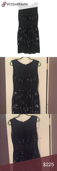 Nicole Miller Navy formal Dress Gorgeous navy Nicole Miller dress! navy. Size 8. Brand new. Can be worn for a number of occasions :) Nicole by Nicole Miller Dresses