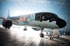 Brussels Airlines and Moulinsart's Airbus A320 with a livery inspired by the world famous Belgian cartoon character Tintin. Both Belgian companies have worked several months on this unique project, based on the original drawings by the hand of Hergé. The special Tintin livery will remain until 2019.