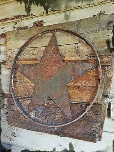 Items similar to Rustic metal star on reclaimed wood panel on Etsy Wine Barrel Crafts, Wine Barrel Rings, Wine Barrels, Metal Projects, Metal Crafts, Recycled Crafts, Diy Projects, Plasma Cutter Art, Pallet Art