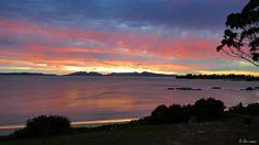 ✣ Oysterbay, Swansea - Tasmania, Australia ✣  Photograph © Ellen Vaman  www.facebook.com/ellen.vaman1 #EllenVaman #Photography #Tasmania #Australia #Swansea #Oysterbay #Ocean #Mountains #Dawn #Beauty #Wilderness #Nature