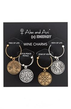 Great meaning behind this little gift, great option!  Alex and Ani 'Illumination' Wine Charms (Set of 4) available at #Nordstrom