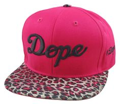 Flat Bill Snapback  Hat  3D DOPE Hip Hop Hot Pink/ by DaisysOutlet, $22.00