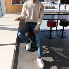 Korean Outfits, Trendy Outfits, Cute Outfits, Fashion Outfits, Korean Fashion Men, Urban Fashion, Teen Boy Fashion, Mens Clothing Styles, Streetwear Fashion