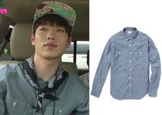 "Seo Kang-Joon 서강준 on ""Roommate"" Episode 11.  J.Crew Blue Cotton Chambray Shirt #Roommate 룸메이트 #SeoKangJoon"