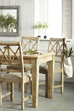 Dining room mango #wood #table #furniture www.belbazaar.pl