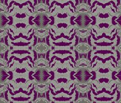 purple waves fabric by oddgirl on Spoonflower - custom fabric