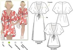Summer Cover Up Dress / Sizes 16 18 & 20 / Women's by StyleArc