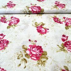Vintage béžová s ružami
