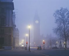 Foggy London at Night | Big Ben, London, England. Stunning photo of London at night with Big ...