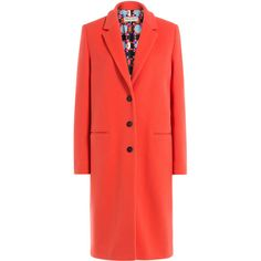Emilio Pucci Coat (£580) ❤ liked on Polyvore featuring outerwear, coats, jackets, emilio pucci, coats & jackets, red, emilio pucci coat, long sleeve coat and red coat