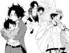 Luffy and Ace Brothers One Piece Fan Art, One Piece Meme, One Piece Drawing, Anime One Piece, One Piece Comic, One Piece Luffy, Sabo One Piece, One Piece Pictures, One Piece Images