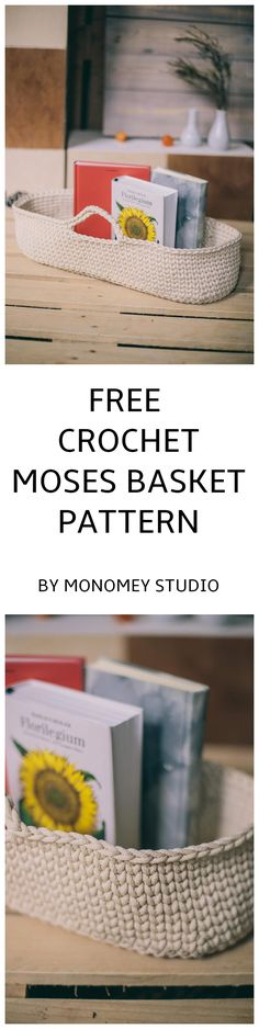 I am sharing my crochet PATTERN for crochet Moses basket with you, my fans. Please find the FREE pattern in one of the photos. Diy Crochet Basket, Crochet Basket Pattern, Crochet Patterns, Moses Basket, Free Crochet, Free Pattern, Knitting, Projects, Log Projects